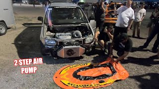 Trying To Inflate a Raft With a Turbo Minivan! (Thought It Would Be Way Cooler)