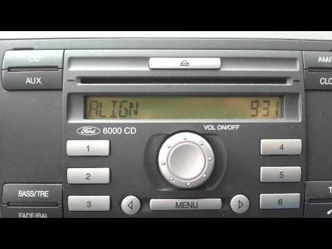 Ford Focus 1.6 2006 Radio 6000 CD code 00