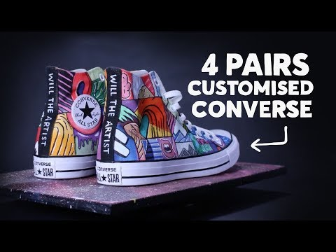 All Star Converse Customisation ⚡️