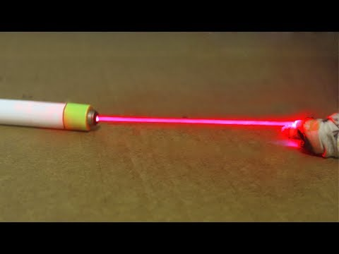 How to Make a Laser Pointer More Powerful Out of Plastic Tube
