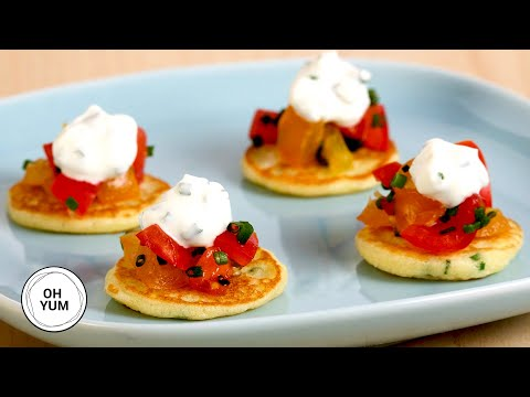 Mini Pancakes Hors D'Oeuvres - Anna Olson