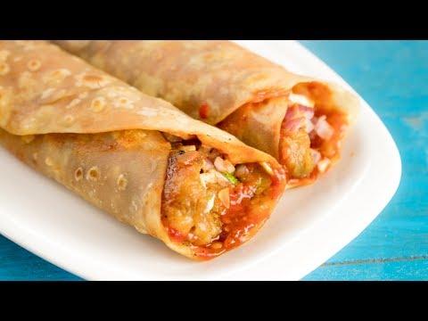 Schezwan Frankie | Street Style Veg Schezwan Aloo Franky Roll Recipe | Indian Street Food
