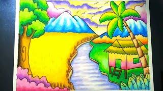 Coloring And Drawing Gambar Mewarnai Pemandangan Gunung