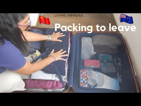 Packing to return from abroad
