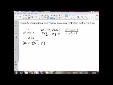 sec9.4 Part 1 alg II Simplifying Rational Expressions