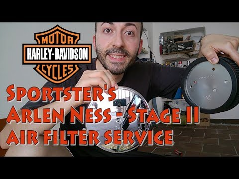 How to maintain Arlen Ness Big Sucker Stage II air filter on Harley-Davidson Sportster