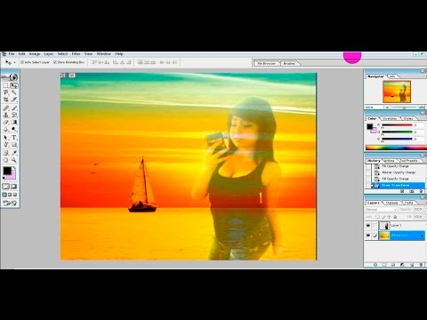 how to blend two pictures together in photoshop 7.0