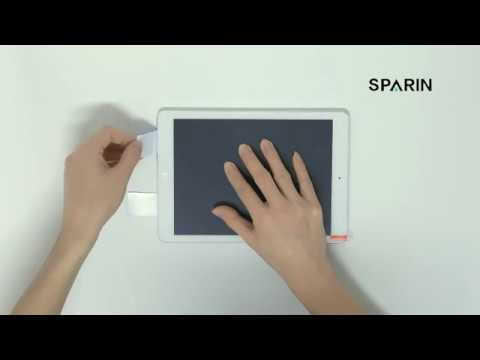 SPARIN A09 Guide Sticker Installation Video for Tablet Screen Protector