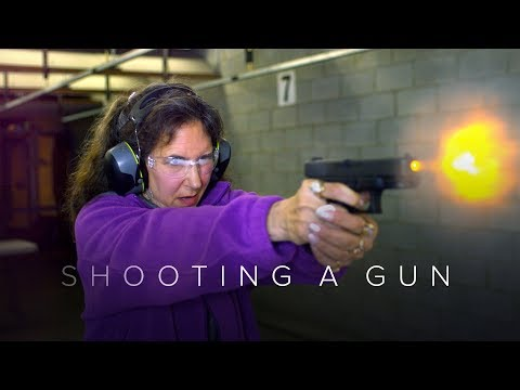 People Shoot a Gun for the First Time Captured in Slow Motion | First Takes | Cut