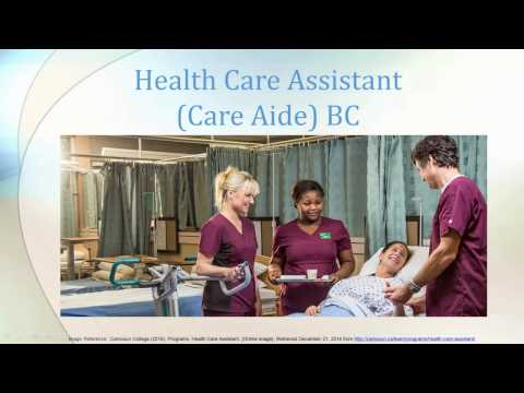 Health Care Assistant in BC (British Columbia) 1 - What is an HCA?
