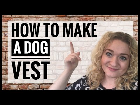 How to make a fleece dog coat - how to sew a frugal dog vest jacket