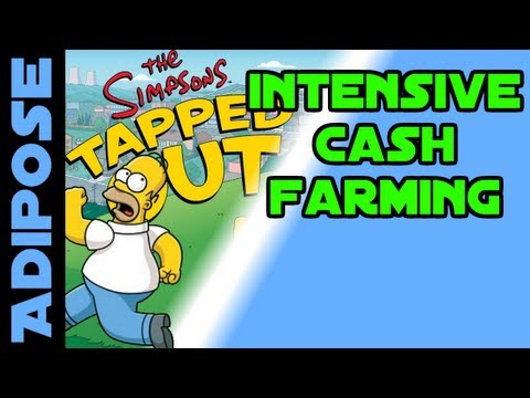 Simpsons Tapped out-Intensive Cash Farming