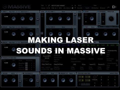 Making Laser Sounds in Massive