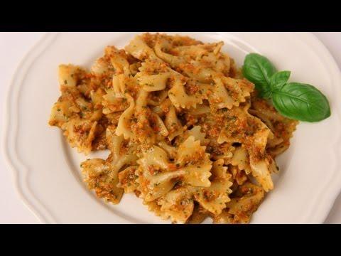 Bowties with Sun Dried Tomato Pesto Recipe - Laura Vitale - Laura in the Kitchen Episode 408