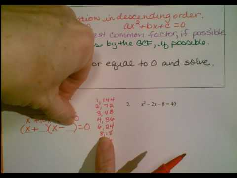 Solving Quadratic Equations Notes Part 1