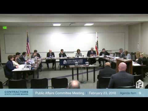 Public Affairs and Legislative Committee Meeting 03.02.2018