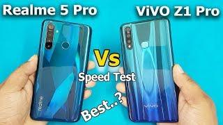 Realme 5 Pro vs ViVO Z1 Pro Speed Test / Comparison    Antutu Beachmark Scores    Rs.13999 vs 14990