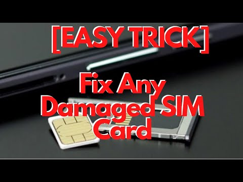 How to Repair and Reuse Any Damaged SIM card