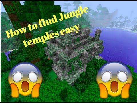 How to find jungle temples in minecraft easy