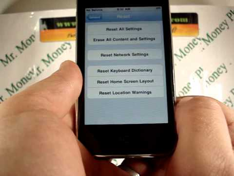 HARD RESET your Apple iPhone 3GS (RESTORE to FACTORY condition)