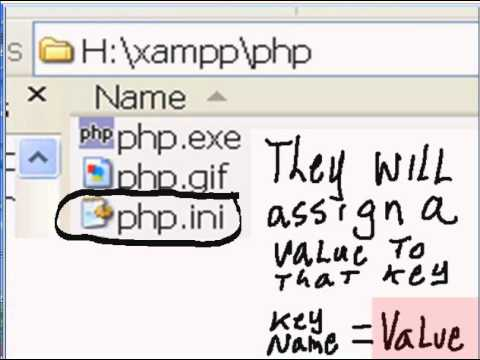 Xampp directory, php folder, and php.ini