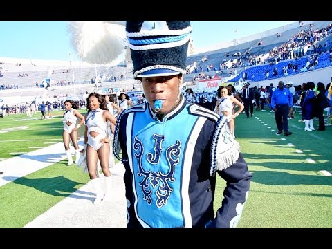 Jackson State University Marching Band - Marching Into the 2017 Southern Heritage Classic