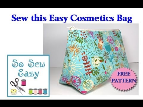 Sew an easy cosmetics bag