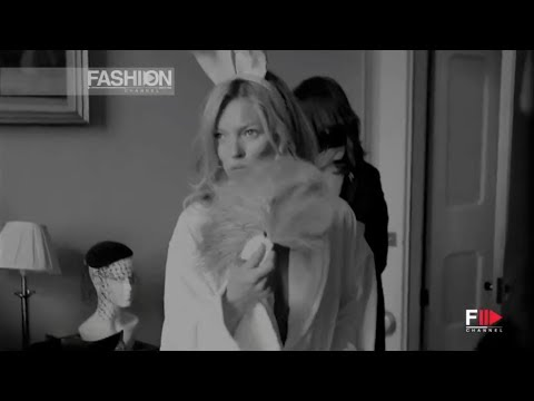 KATE MOSS for PLAYBOY Backstage Photoshoot by Fashion Channel