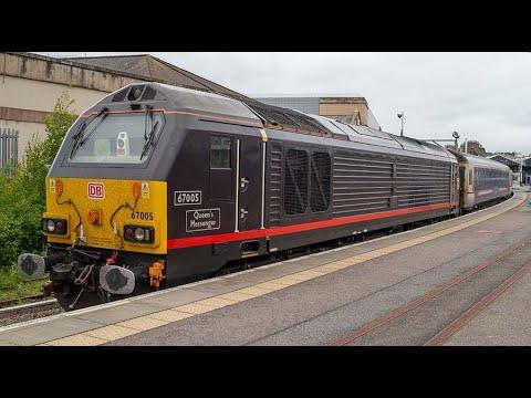 67005 1M16 Inverness Caledonian Sleeper Departure through Culloden