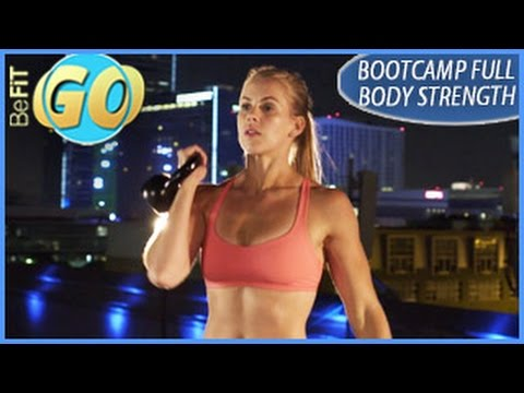 Bootcamp Total Body Strength Mobile Workout: 15 Min Muscle- BeFiT GO