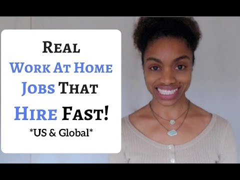 5 REAL Work@Home JOBS That Hire FAST! Make Money Quicker!  (US And International)