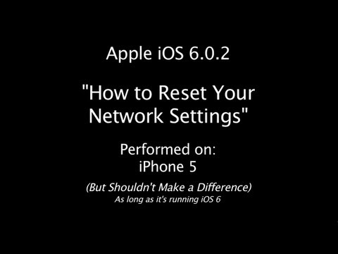 iOS 6 | iPhone 5 | Reset Network Settings | iOS 6.0.2