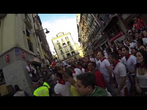 POV Running of the Bulls - GoPro