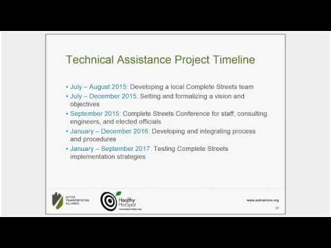 Complete Streets Technical Assistance Application Webinar