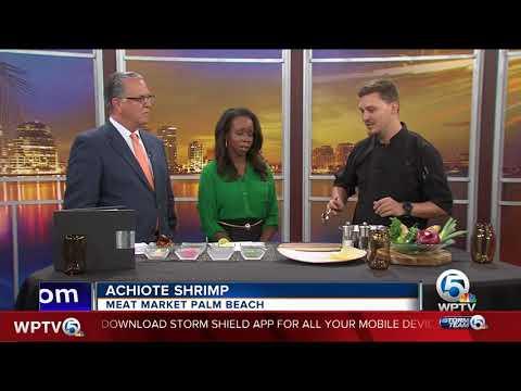 Meat Market Palm Beach cooks achiote shrimp