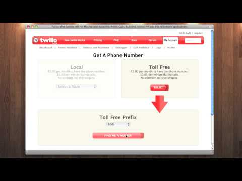 Twilio Screencast: Register a Toll Free Number