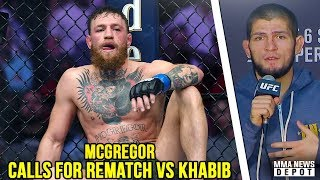 McGregor: Looking forward to the rematch. I