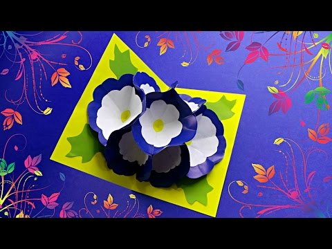 DIY - 3D FLOWER POP UP CARD - TUTORIAL / DIY CARDS