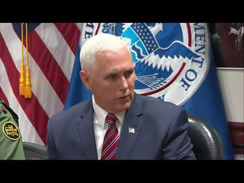 Pence Meets With Border Patrol In California