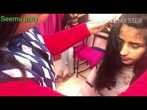 Advance Layers Cut cutting/How to cut Advance Cut / V shape hair cutSeema jaitly