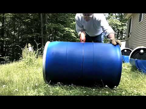 Cutting barrel for hillside gardening container P.2