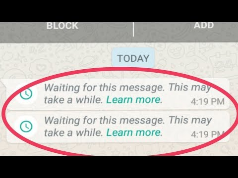 How To Fix WhatsApp Waiting For This Message Solved 100% Works