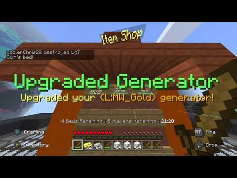 PLAYING THE MINECRAFT SERVERS ON XBOX!??? | Minecraft Xbox Server BedWars Gameplay