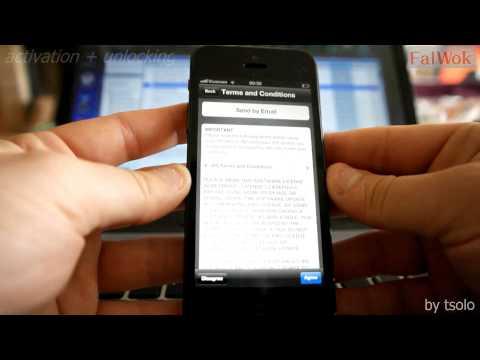How to activate & unlock iPhone 5 iOS 6.1.3 using FalWok
