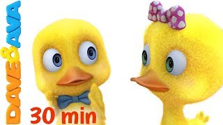 😋 Six Little Ducks   Nursery Rhymes And Kids Songs From Dave And Ava 😋
