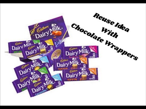 Reuse idea with chocolate wrappers | Best out of waste