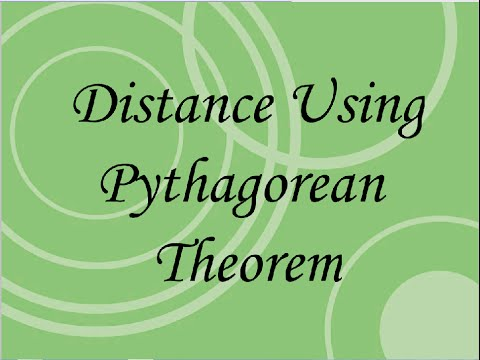 Distance Using Pythagorean Theorem