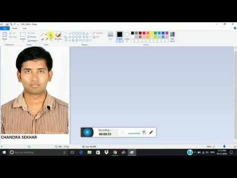 How to add name and date of birth to a passport size photo using paint for APPSC, KPSC etc..