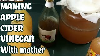 APPLE CIDER VINEGAR WITH STARTER---1