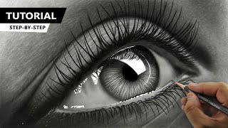 Download How to Draw Hyper Realistic Eye   Tutorial for BEGINNERS Video